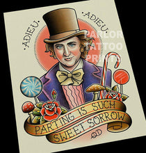 Willy Wonka Tattoo Flash Art Print