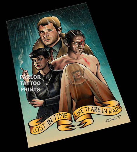Bladerunner Tattoo Flash Art Print