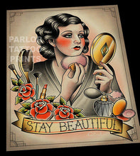 Stay Beautiful Makeup Tattoo Flash Art Print