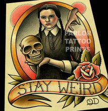 Wednesday Addams Tattoo Flash Art Print