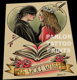 The Princess Bride Tattoo Flash Art Print