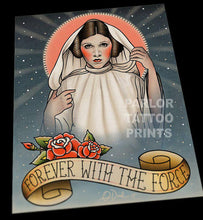 Princess Leia Star Wars Tattoo Flash Art Print