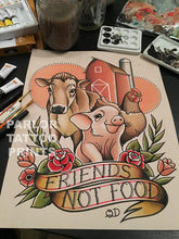 Friends Not Food Flash Art Print