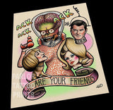 Mars Attacks (We Are Your Friends) Tattoo Flash Art Print