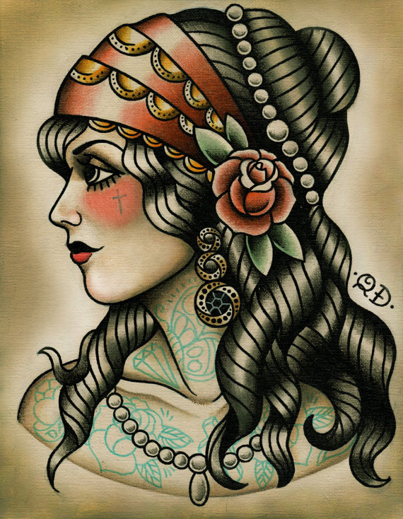 Gypsy Tattoo Art Print