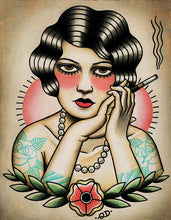Smoking Flapper Art Print