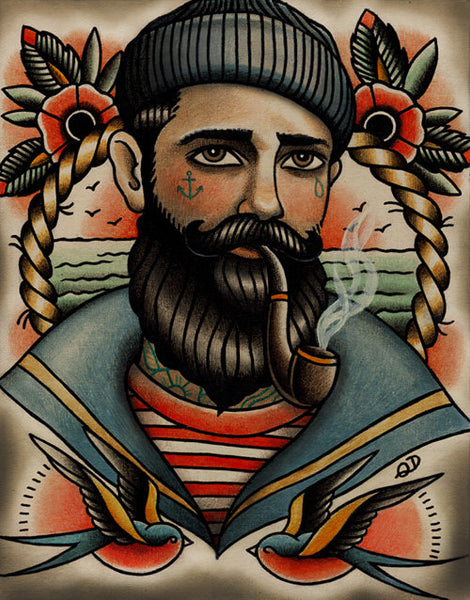 Seaman Tattoo Art Print