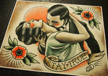 Stay True Traditional Tattoo Print