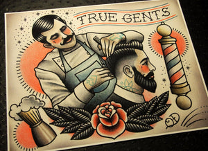 True Gents Tattoo Print