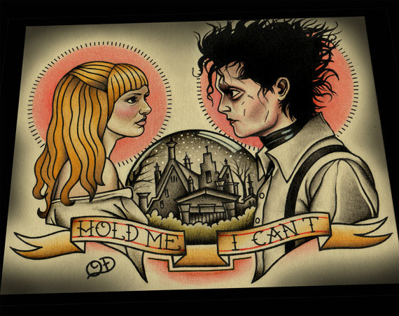 Edward Scissorhands Tim Burton Tattoo Flash Art Print