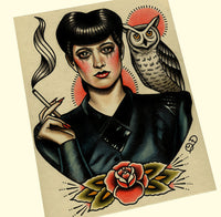 Bladerunner Rachael Tattoo Flash Art Print (PICK YOUR PRINT)