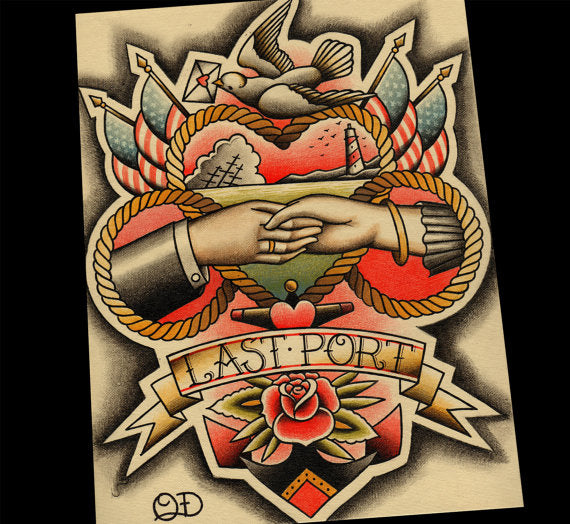 Last Port Traditional Tattoo Print