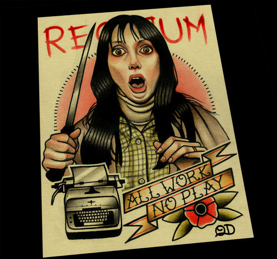Redrum Wendy Torrance  Tattoo Flash Art Print
