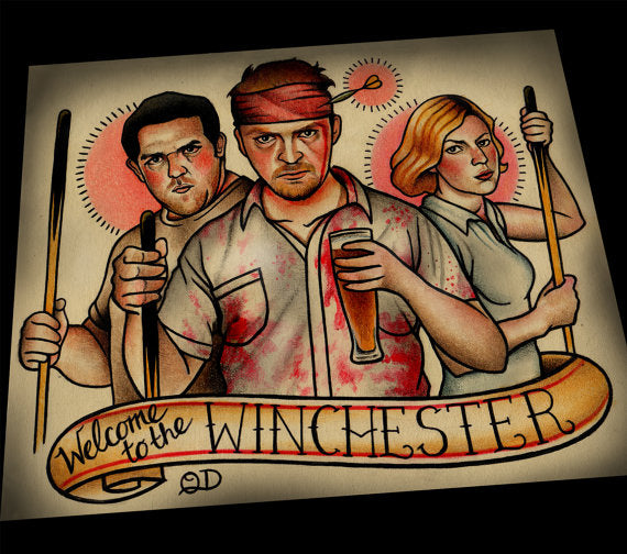 Shaun of The Dead Tattoo Flash Art Print