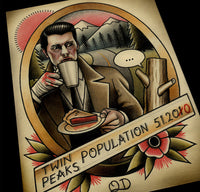 Twin Peaks Tattoo Flash Art Print