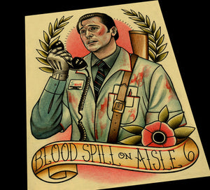 Ash Williams Evil Dead Tattoo Flash Art Print