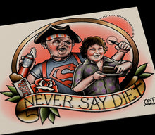 Never Say Diet Tattoo Flash Art Print
