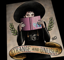 Lydia Strange and Unusual Tattoo Flash Art Print