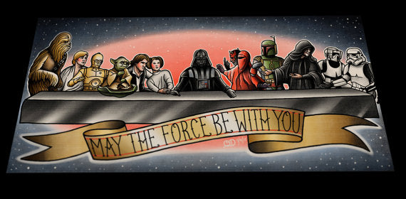 Star Wars Last Supper Tattoo Flash Art Print