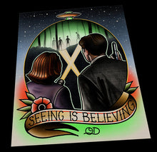 Xfiles Seeing is Believing Tattoo Flash Art Print