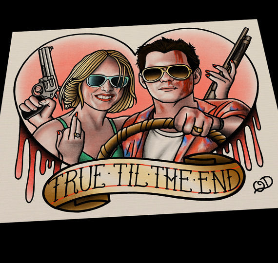 True Romance Tattoo Flash Art Print