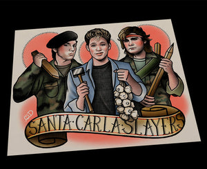 Santa Carla Slayers Lost Boys Tattoo Flash Art Print