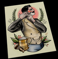 Tattooed Shaving Gent Tattoo Print