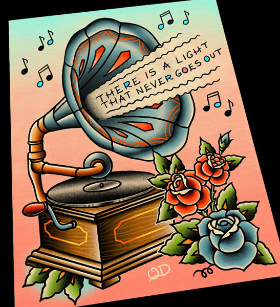 Personalized Lyrics Phonograph Print