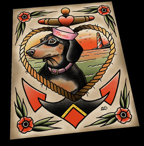 Personalized Dachshund Portrait