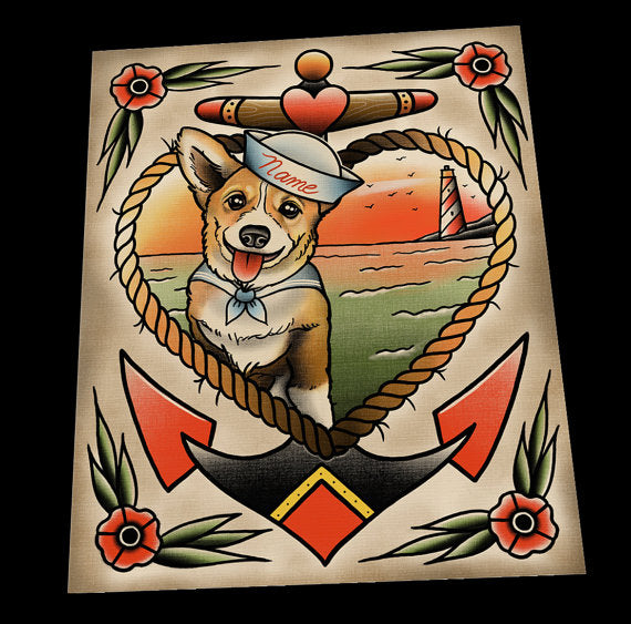 Personalized Corgi Portrait