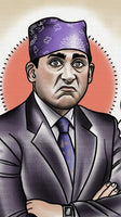 Prison Mike Tattoo Flash Art Print