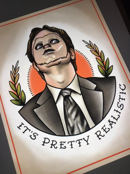 Dwight Schrute Tattoo Flash Art Print