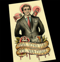 Patrick Bateman American Psycho #2 Tattoo Flash Art Print