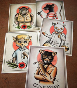 Fantastic Mr. Fox Tattoo Flash Art Prints