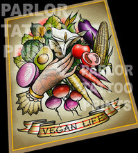 Vegan Life Tattoo Flash Art Print