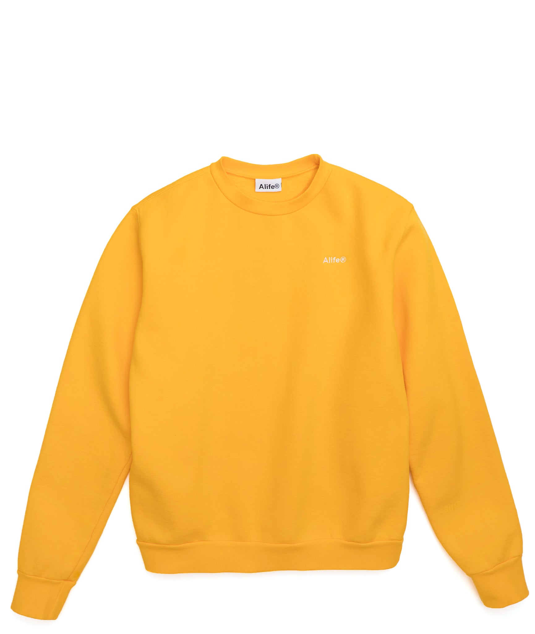 Alife Basics Crewneck in Yellow - Front