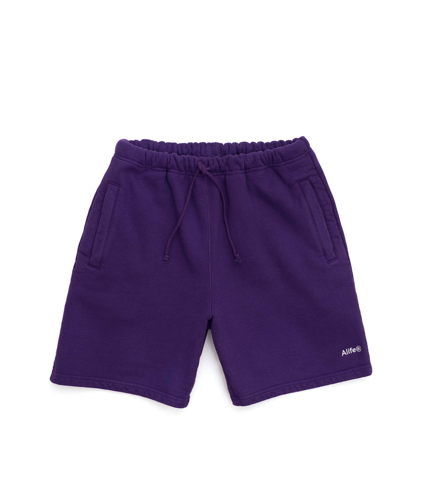 Alife Basics Fleece Short in Purple - Front