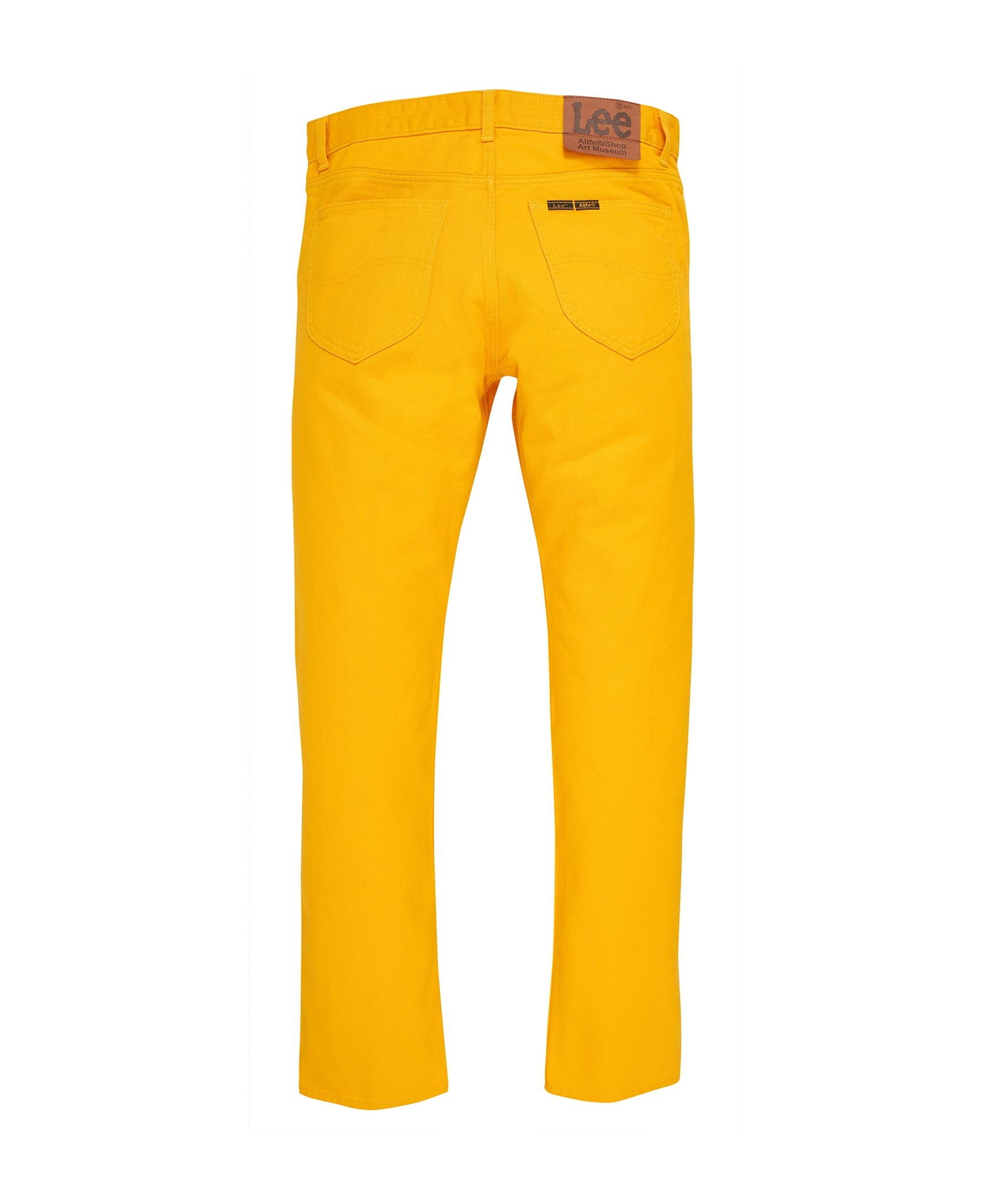 Alife/Lee Colored Cotton Twill Pant in Yellow rear view