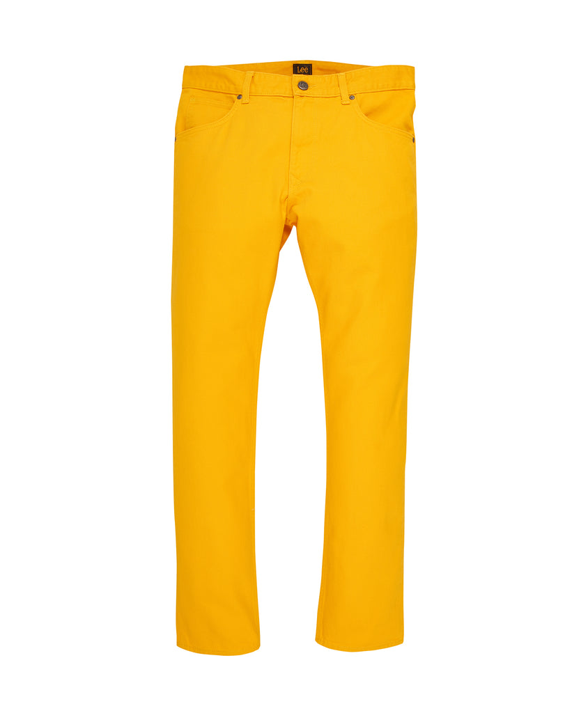 Alife/Lee Colored Cotton Twill Pant in Yellow front view