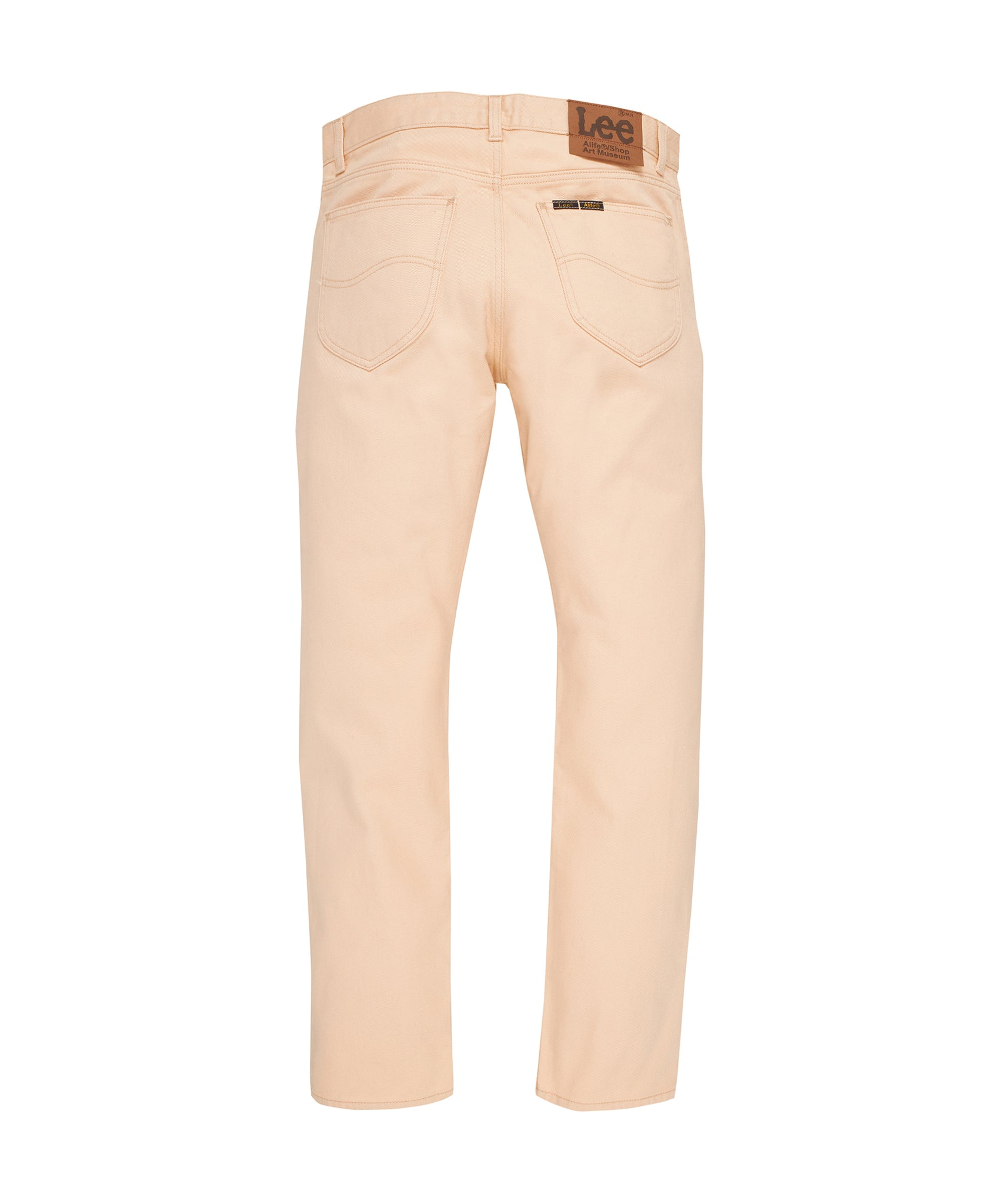 Alife/Lee Colored Cotton Twill Pant in Beige rear view