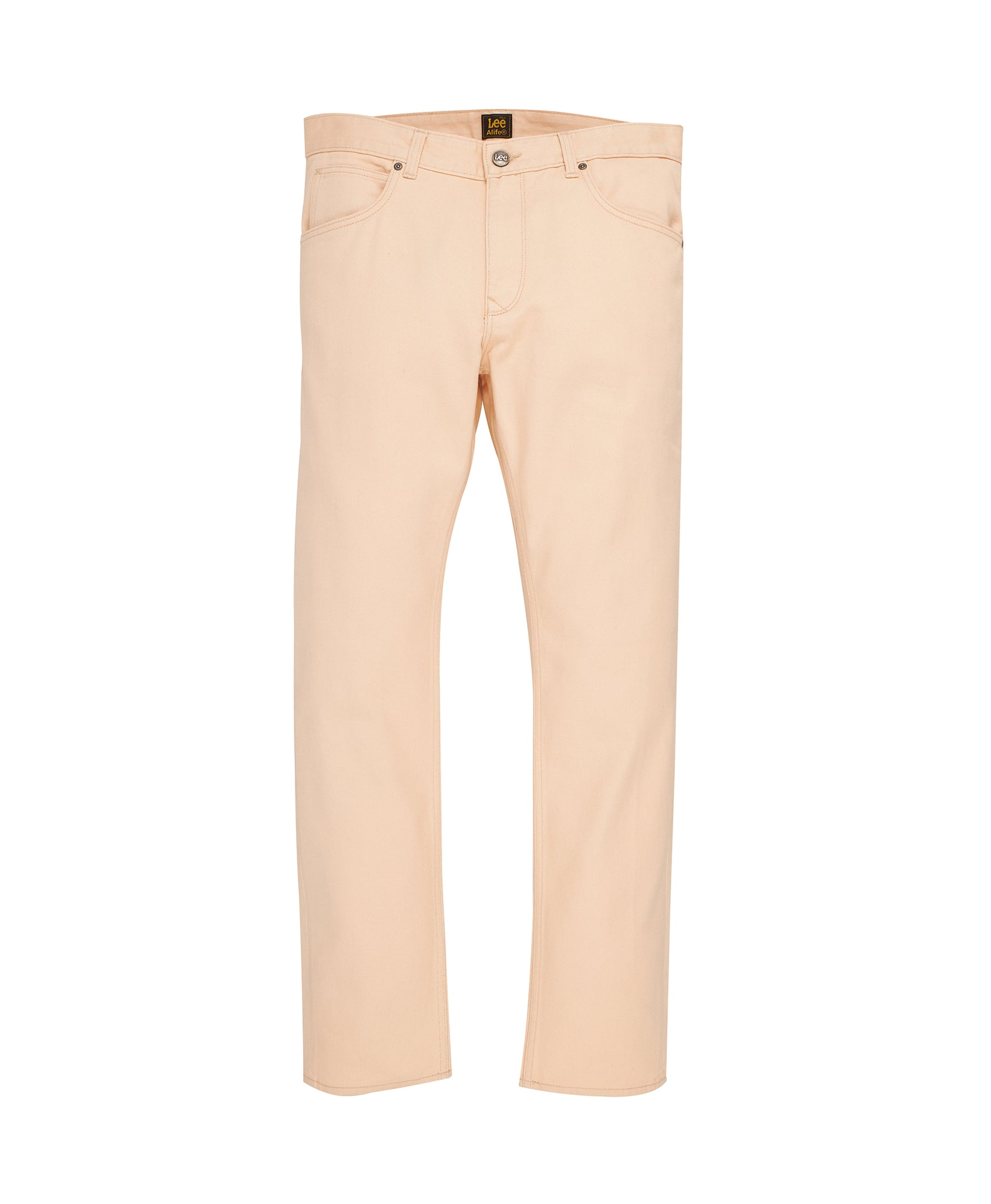 Alife/Lee Colored Cotton Twill Pant in Beige front view