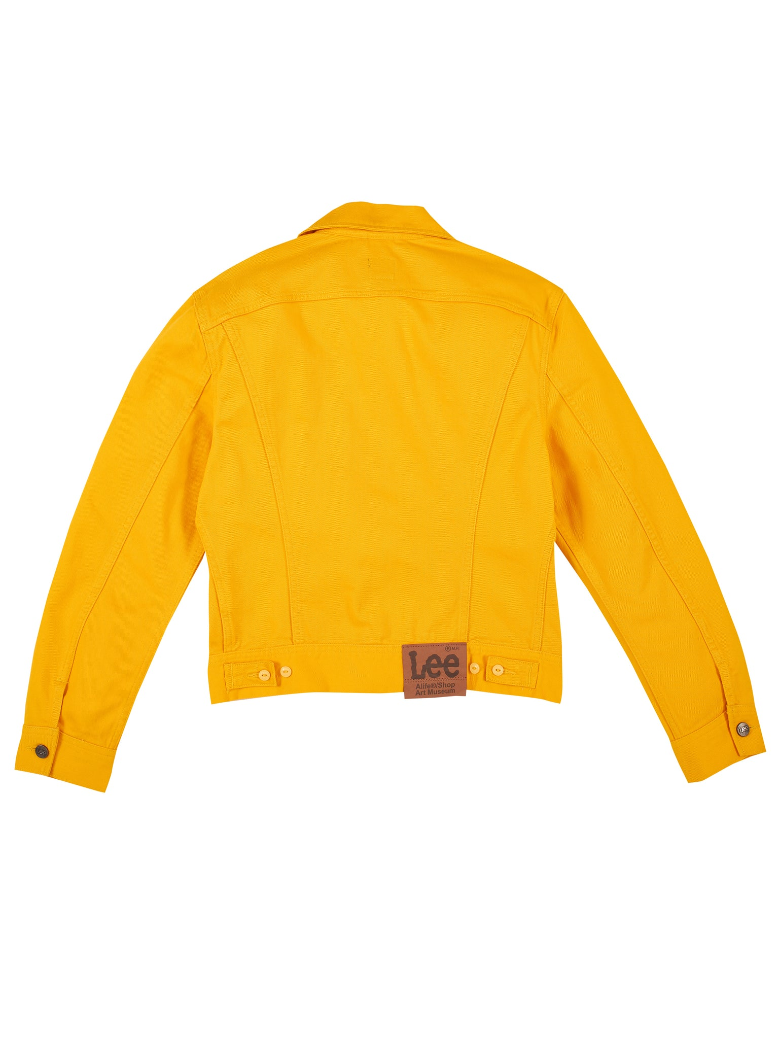 Alife/Lee Colored Cotton Twill Jacket in Yellow rear view