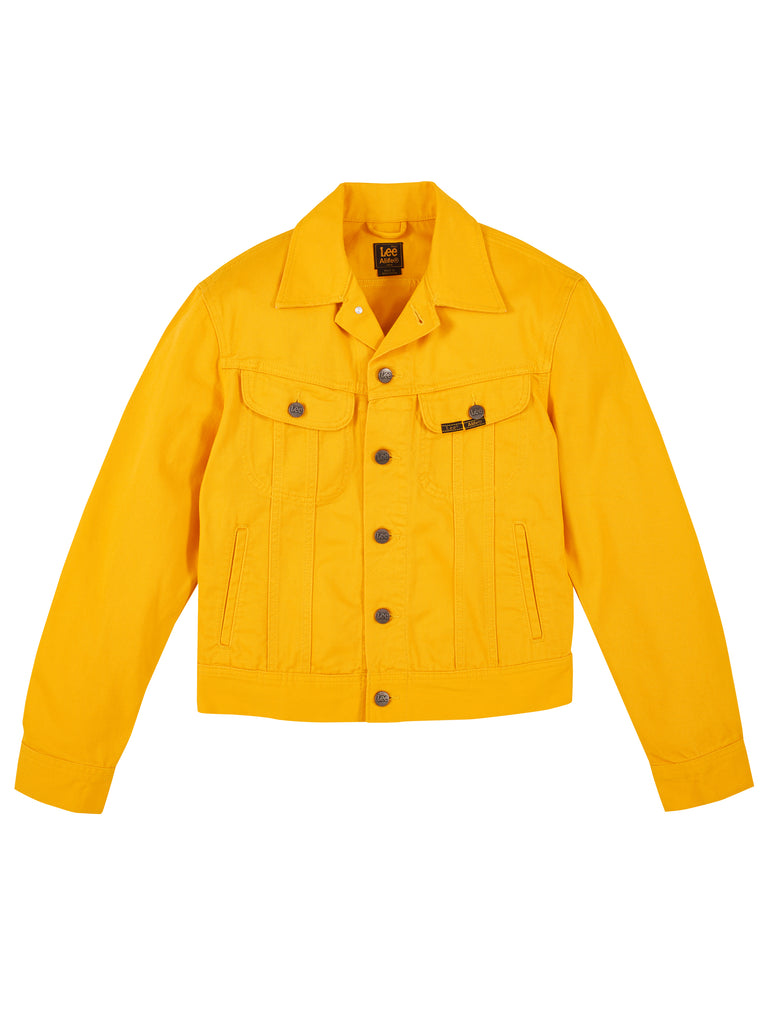 Alife/Lee Colored Cotton Twill Jacket in Yellow front view