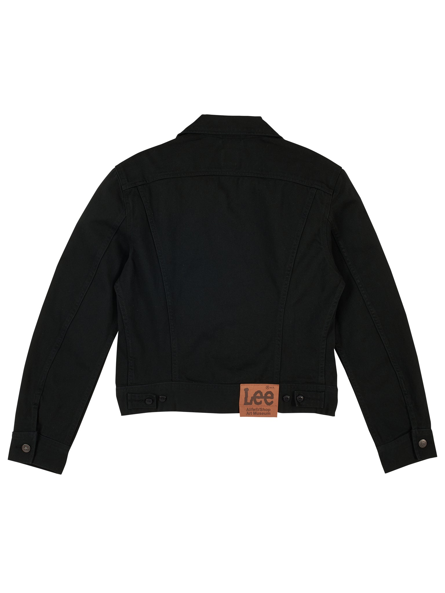 Alife/Lee Colored Cotton Twill Jacket in Black back