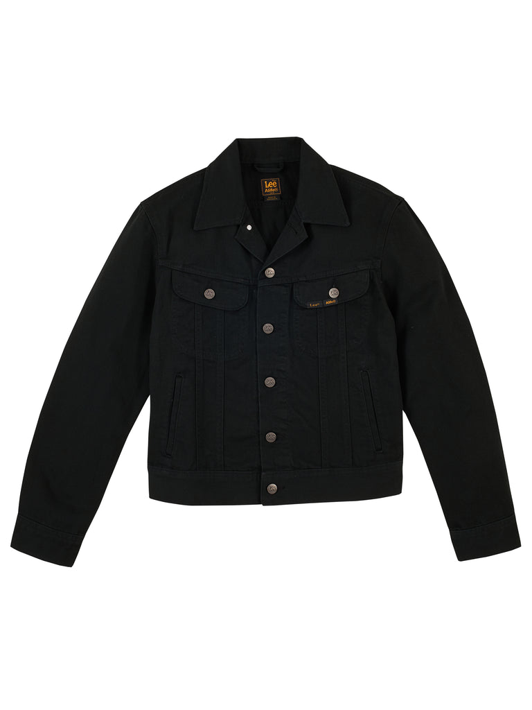 Alife/Lee Colored Cotton Twill Jacket in Black Front