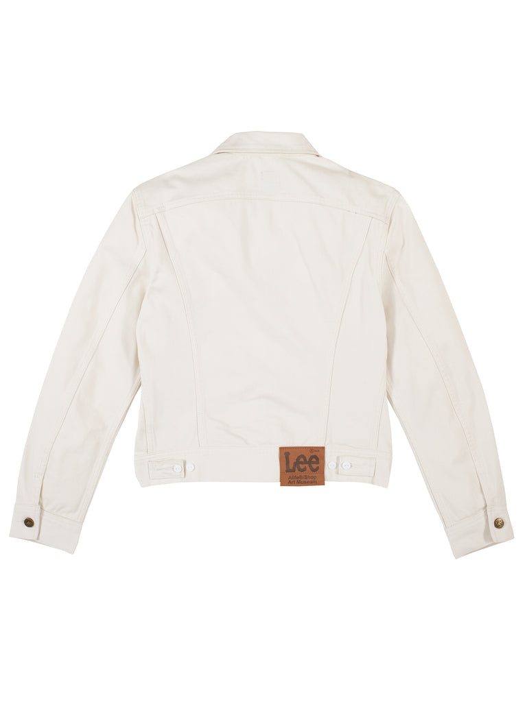 Alife/Lee Colored Cotton Twill Jacket in White rear view