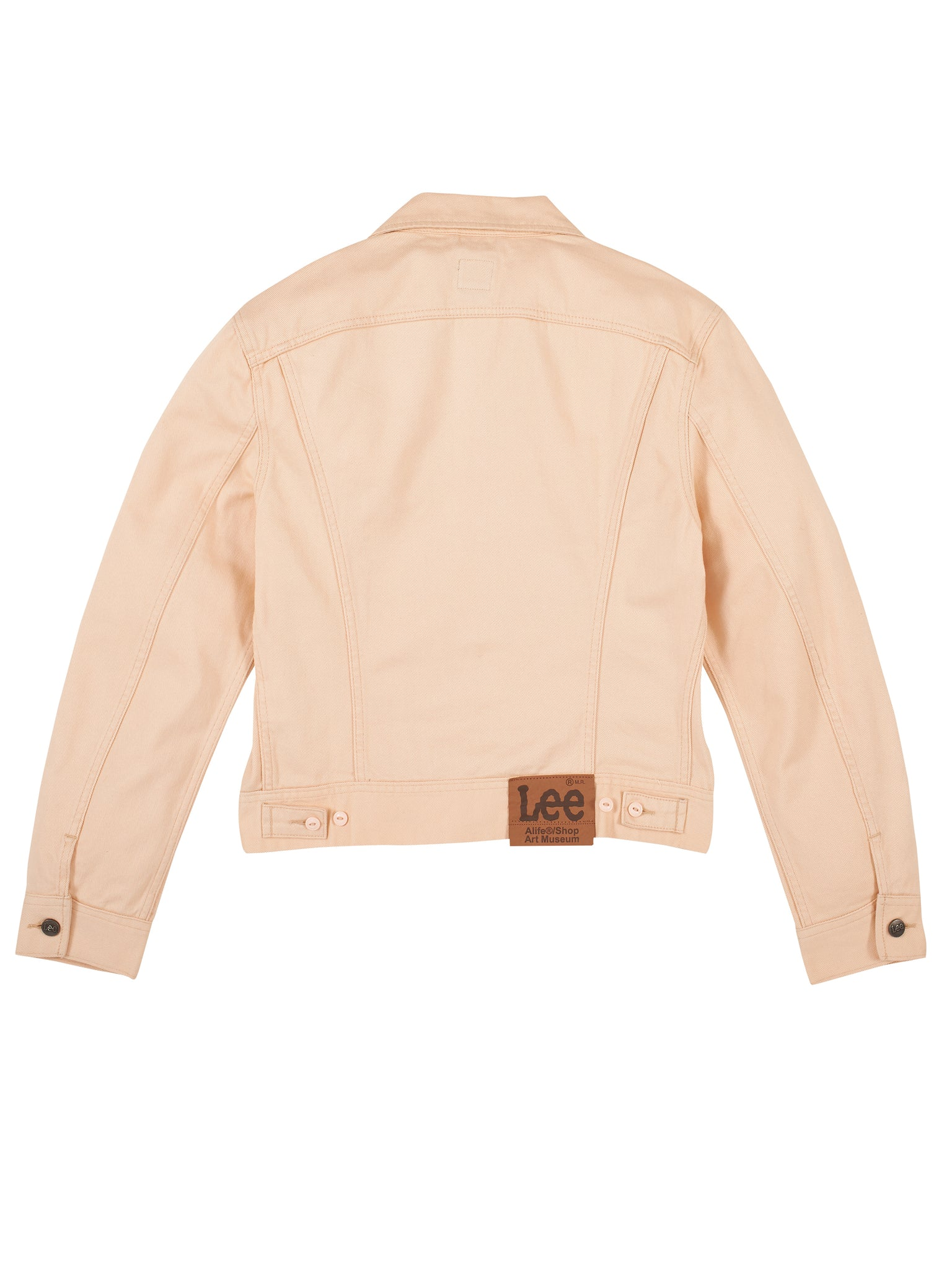 Alife/Lee Colored Cotton Twill Jacket in Beige back