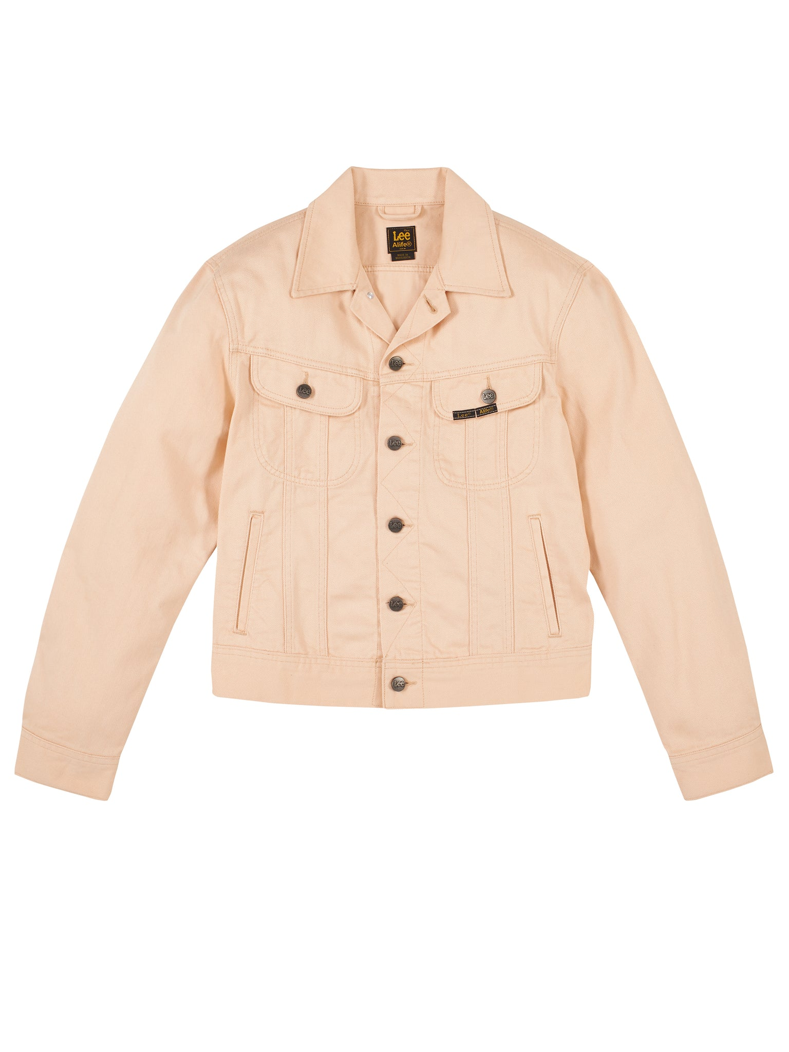 Alife/Lee Colored Cotton Twill Jacket in Beige Front