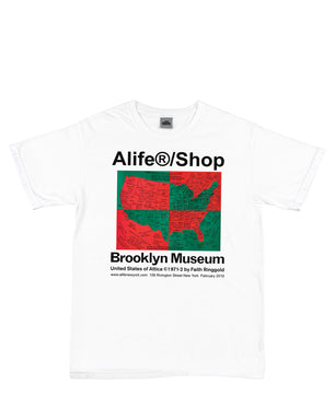Alife/Brooklyn Museum U.S. Of Attica by Faith Ringgold Tee