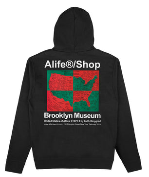 Alife/Brooklyn Museum U.S. Of Attica by Faith Ringgold Zip Hoodie